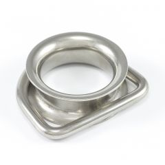 "SolaMesh Dee Ring Thimble Stainless Steel Type 316 6mm x 50mm (1/4"" x 2"")"