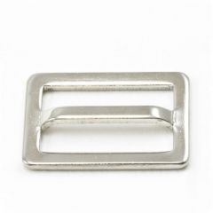 Adjuster Buckle #100 Nickel Plated Brass 1""
