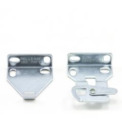 "RollEase Mounting Bracket for R-3/ R-8 Clutch 1-1/2"" Nickel"