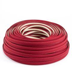 Steel Stitch Sunbrella® Covered ZipStrip w/ Tenara Thread 160' Jockey Red 4603 (Full Rolls Only)
