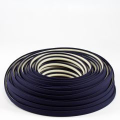 Steel Stitch Sunbrella® Covered ZipStrip w/ Tenara Thread 160' Captain Navy 4646 (Full Rolls Only)