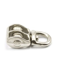 "Swivel Eye Double Sheave Pulley #4/0 1/8"" Rope"
