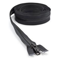 "YKK VISLON #10 Separating Zipper Automatic Lock Short Double Pull Metal Slider #VFUVOL-107 DX E 100"" Black"