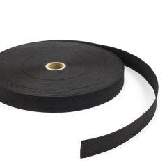 """Flat Elastic Braid 1050 1"""" Polyester Black (144 yards)"""