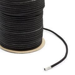 "Polypropylene Covered Elastic Cord 3/16"" M-3 Black (300 feet)"