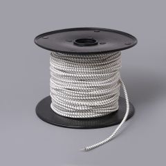 "Synthetic Shock Cord with Polyester Jacket 3/16"" White (300 feet)"