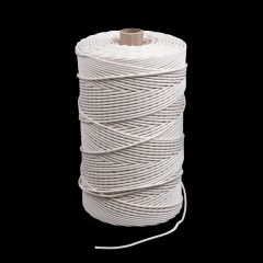 Solid Braid Ultra Cotton Lacing Cord White 3-1/2 (1500 feet)
