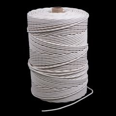 "Cotton Solid Braided Ultra Awning Line 9/64"" White #4.5 (1500 feet)"