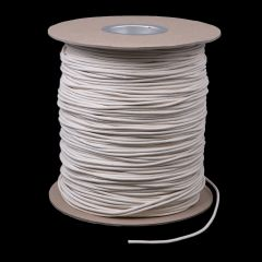 "Cotton Solid Braided Ultra Awning Line 5/32"" White #5 (1500 feet)"