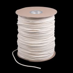 "Cotton Solid Braided Ultra Awning Line 7/32"" White #7 (1500 feet)"