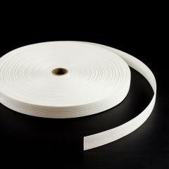 """Spun Polyester Webbing 2070/S0009 1"""" White (50 yards)"""