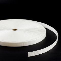 """Polypropylene Webbing 7166/P0001 1"""" White (100 yards)"""