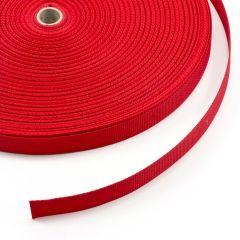 """Polypropylene Webbing 7166/P0001 1"""" Red (100 yards)"""