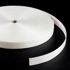 "Polypropylene Webbing 7390/PP002 1-1/2"" White (100 yards)"