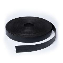 """Webbing PVC Coated Polyester 1281 2"""" Black (109 yards)"""