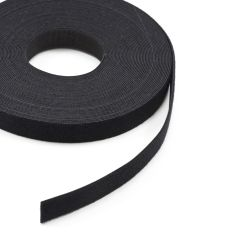 "VELCRO Brand ONE-WRAP Hook/Loop HTH888 1"" Black 189590 (25 yards)"