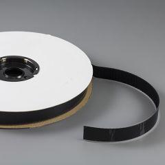 """TEXACRO Nylon Tape Hook #91 Adhesive Backing 1"""" Black (25 yards)"""