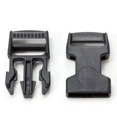 "Fastex Side Release Buckle 3/4"" Acetal Black"