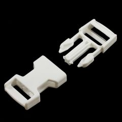 "Fastex Side Release Buckle 1"" Acetal White"